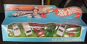 Hot Wheels Gift Set 1976 Help Machines